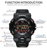 Brand Men Sport Watch Black Green Military Army Watches Bluetooth Digital Smart Wristwatch Iphone Android Clock Outdoor U8 - Justt Click