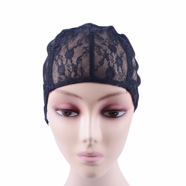 5 Pcs/Lot Double Lace Wig Caps For Making Wigs And Hair Weaving Stretch Adjustable Wig Cap Hot Black Dome Cap For Wig Hair Net-Justt Click