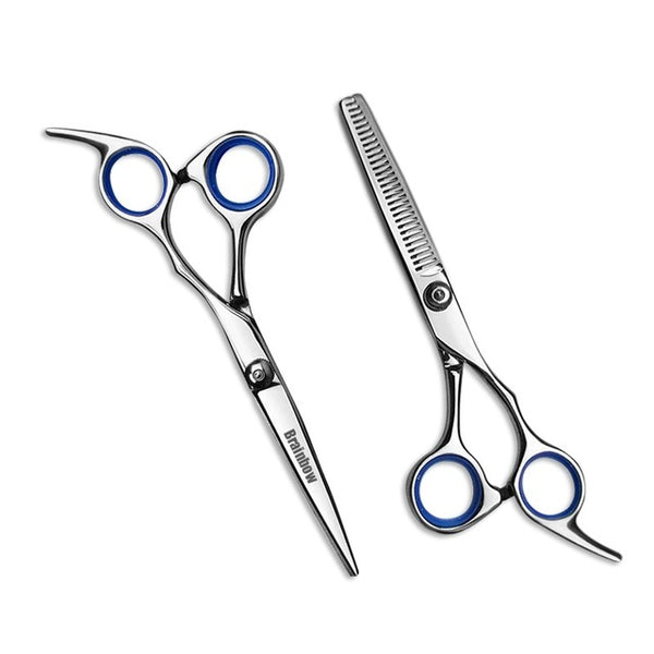 6 inch Cutting Thinning  Styling Tool Hair Scissors Stainless Steel Salon Hairdressing Shears Regular Flat Teeth Blades - Justt Click