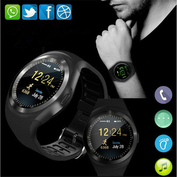 Smart Watchs Round Support Nano SIM &TF Card With Whatsapp And Facebook Men Women Business Smartwatch For IOS Android-Justt Click