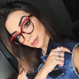 Fashion Cat Eye Reading Eyeglasses Optical Glasses Frames 2018 New Glasses Women Frame Ultra Light Frame Clear Glasses-Justt Click