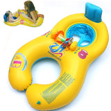 Inflatable baby swimming neck ring mother and child swimming circle double swimming rings float seat piscine-Justt Click