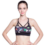 Women Yoga Sports Bra Quick Dry Patchwork Women Running Bra Padded Wireless Breathable Underwear-Justt Click