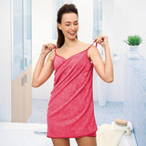 Sexy Women Beach Towel Soft Microfiber Fabric Pink Wearable Bath Towels Super Absorbent Girl Bathrobe 150x70cm Hot - Justt Click