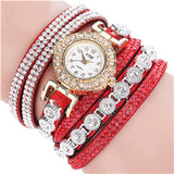 2018 New Women Watch Fashion Casual Analog Quartz Women Rhinestone Watch Bracelet Watch Gift relogio feminino dropshipping-Justt Click