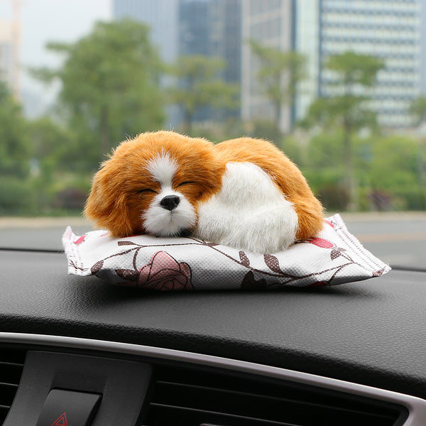 Car Ornaments Cute Dog Doll Air Freshener Purify Home Auto Decoration Puppy Adsorb Odor Deodorant Bamboo Charcoal Accessories - Justt Click