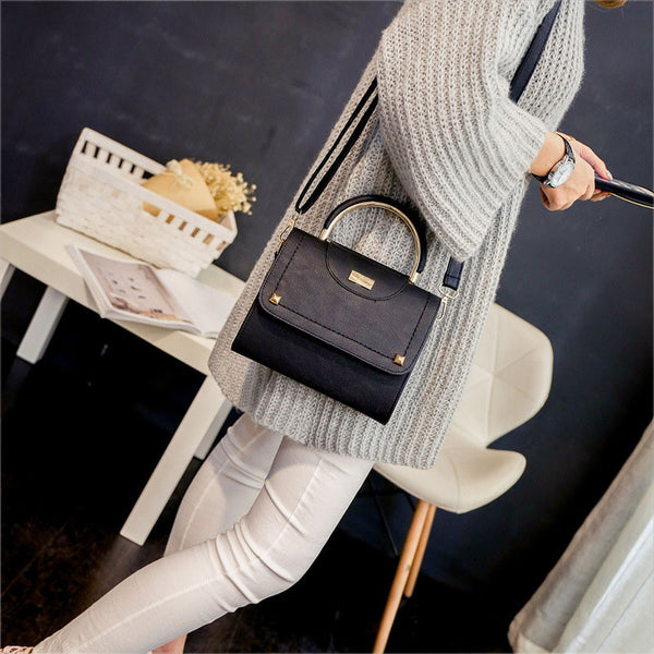 Fashion Women Leather Rivet Shoulder Bag Messenger Bags Ladies Handbag LT88-Justt Click