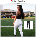 Women's Yoga Workout Leggings Sports Sportswear Solid Color Yoga Pants White And Black Fitness Yoga Pants for Women S-L-Justt Click