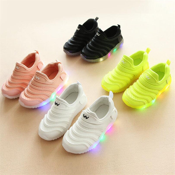 2018 New Spring Autumn Kids Led Shoes Fashion Glowing Sneakers For Girls Boys Mesh Children Shoes Led Luminous Shoes Sneakers-Justt Click