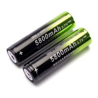 2 pcs 18650 battery 3.7V 5800mAh rechargeable li-ion battery + one charger for Led flashlight headlamp-Justt Click