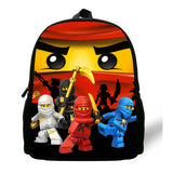 12-inch Kids Backpack Cartoon Ninjago Backpack Girls School Bag Casual Daypack Children Bag Boys Daily Backpack-Justt Click