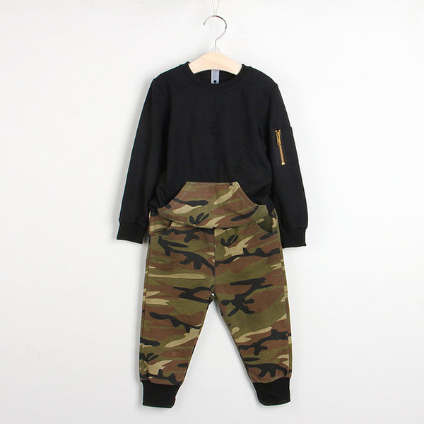 Bear Leader Boys Clothing Sets 2018 New Autumn Fashion Style Long Sleeve Camouflage Printing Design for Children Clothing 3-7Y-Justt Click