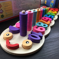 Children Wooden Montessori Materials Learning To Count Numbers Matching Digital Shape Match Early Education Teaching Math Toys-Justt Click