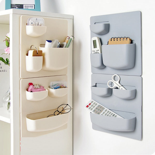 Home Storage Wall Suction Cup Plastic Storage Rack Cosmetic Toiletries Sundries Storage Holder Bathroom Organizer - Justt Click