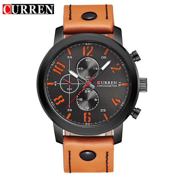 CURREN Luxury Casual Men Watches Analog Military Sports Watch Quartz Male-Justt Click