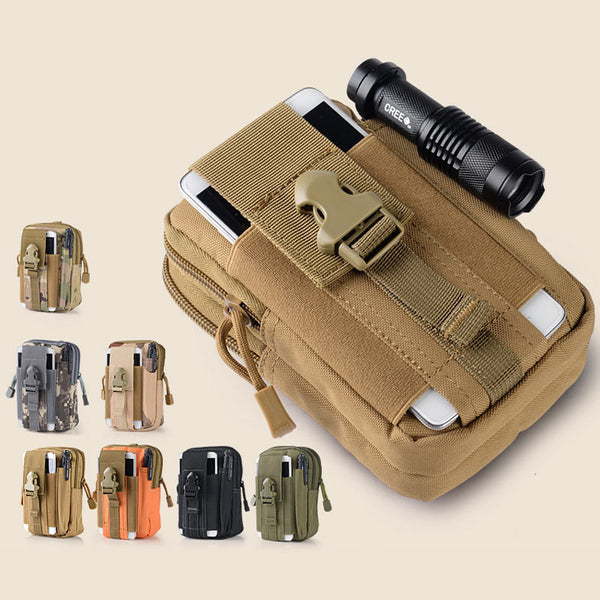 Universal Outdoor Waterproof Molle Military Waist Belt Zipper Phone Bag Case-Justt Click