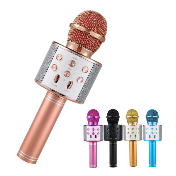 Professional Bluetooth Wireless Microphone Speaker Handheld Microphone Karaoke Mic Music Player Singing Recorder KTV Microphone-Justt Click
