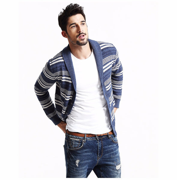 Brand Clothing New Autumn Winter Cardigan Men Fanshion Casual Sweater Slim fit christmas-Justt Click