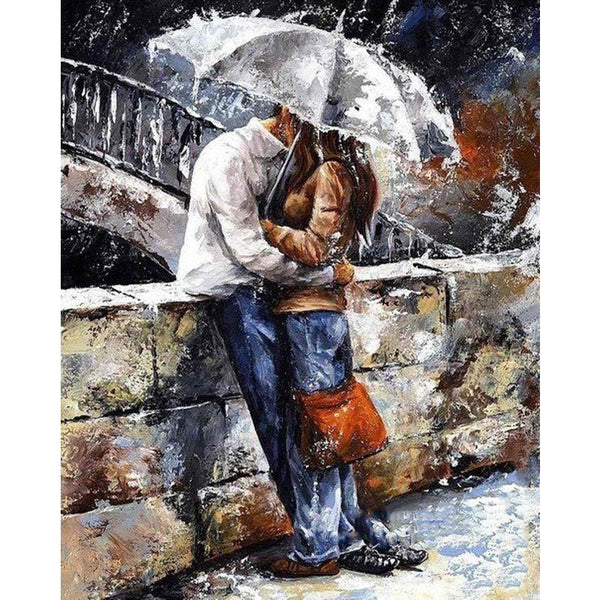 Frameless romatic lover DIY Painting By Numbers Home Art Wall Figure Pictures-Justt Click