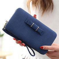New Style Leather Women's Wallet Credit Card Holder Cell Phone Pocket - Justt Click