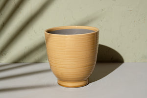 Mustard Glazed Ceramic Pot - Dia: 17cm