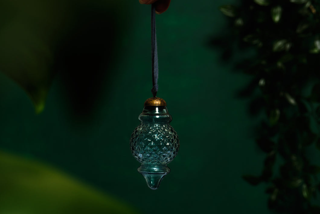 Blue Glass Lantern Bauble
