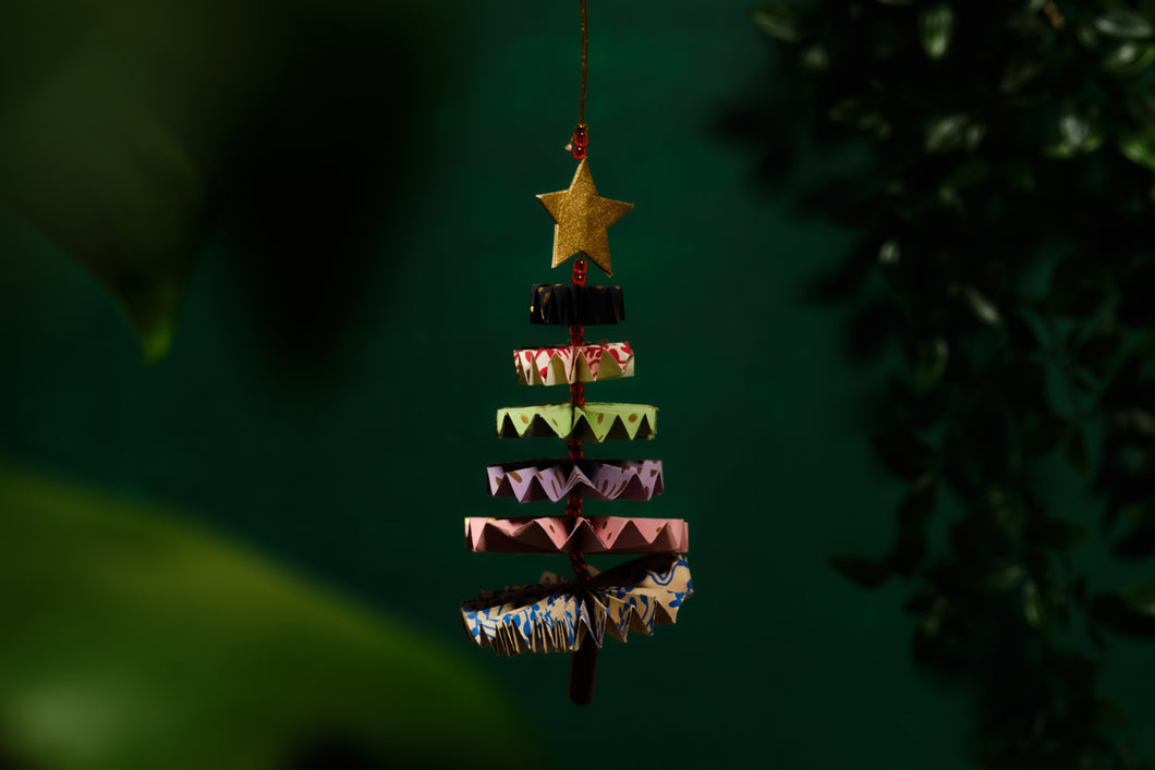 Folding Paper Tree Decoration