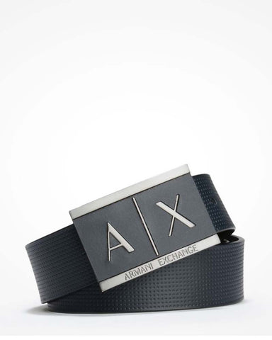 Inlay Logo Belt Navy