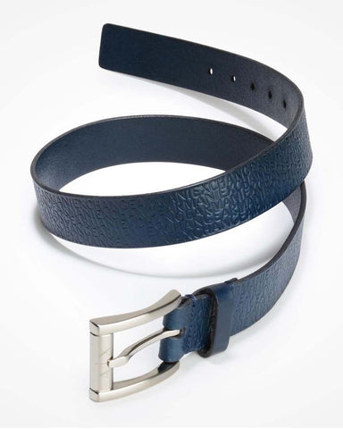 Stamped Logo Belt Navy