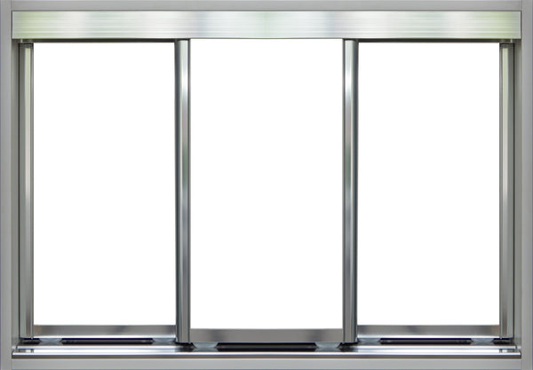 Chrome Frame with White Vinyl - Sliding Wardrobe Doors
