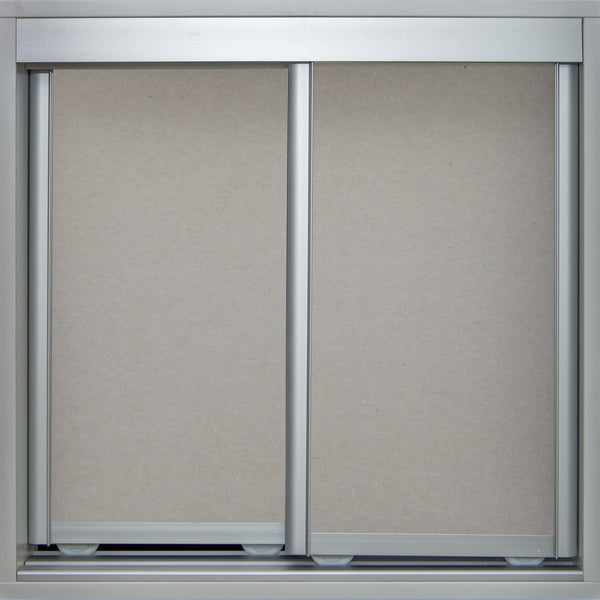 Mat Natural Frame with Raw Gyprock - Sliding Wardrobe Doors