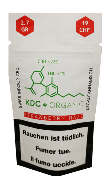 Cannabis KDC Organic Strawberry Haze CBD 2.7 g
