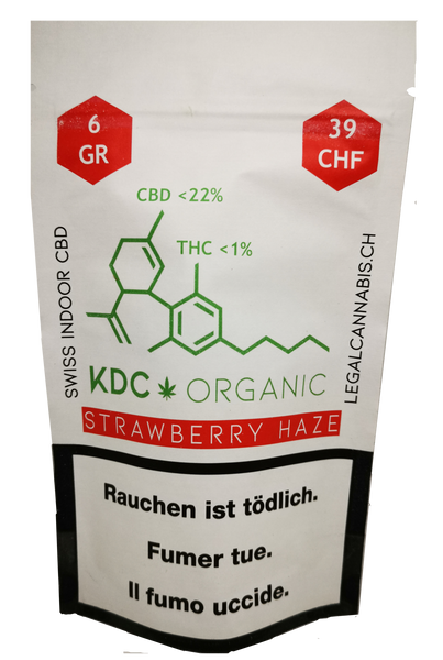 Cannabis KDC Organic Strawberry Haze CBD 6 g