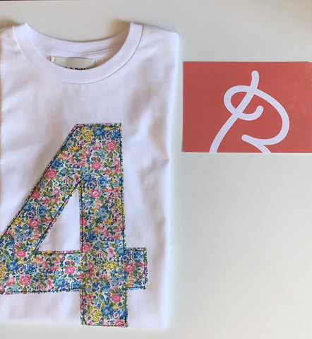 Birch & Bobbin Birthday T-shirt Age 4