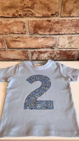 Birch & Bobbin Birthday T-shirt Age 2