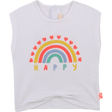 Billieblush White Rainbow Tshirt