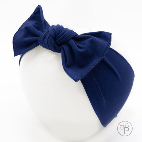 Little Bow Pip - Navy Pippa Bow