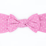 Little Bow Pip - Pink Teeny Dot Pippa Bow