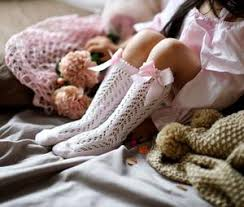 Condor Openwork Socks with Bow - Pink