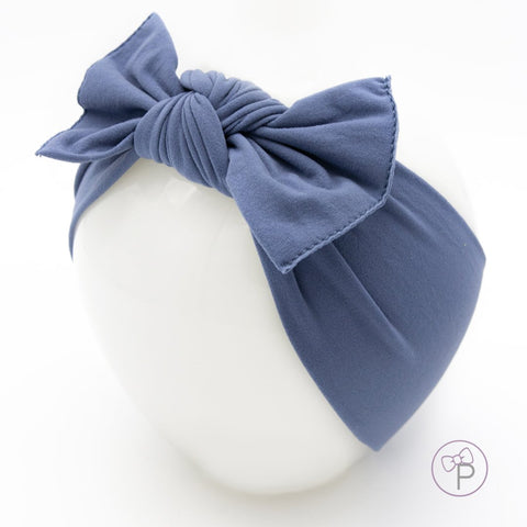Little Bow Pip - Midnight Blue Pippa Bow