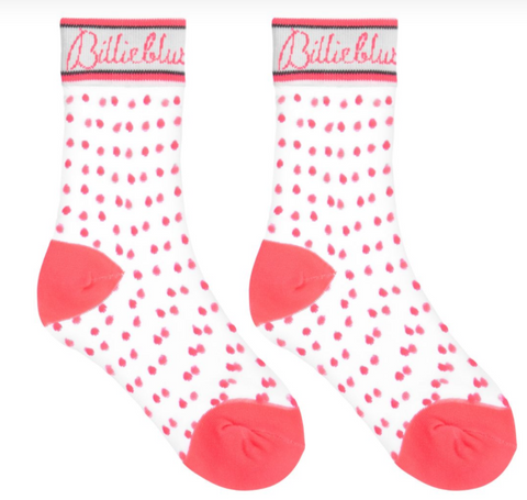 Billieblush Girls Pink Dotty Socks