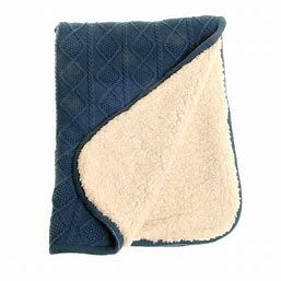 Ziggle Blue Sherpa Fleece Blanket