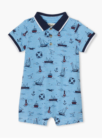 Hayley Out At Sea Baby Boy Romper