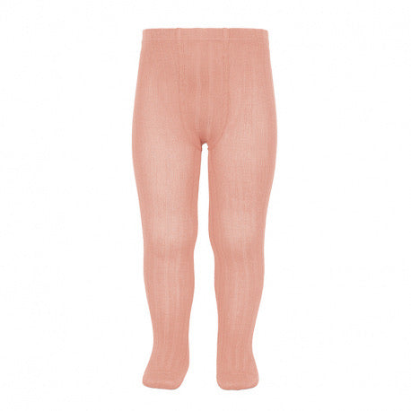 Condor Basic Ribbed Tights Peach