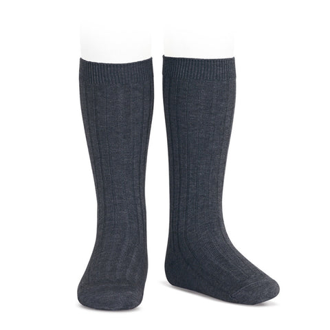 Condor Ribbed Socks- Grey