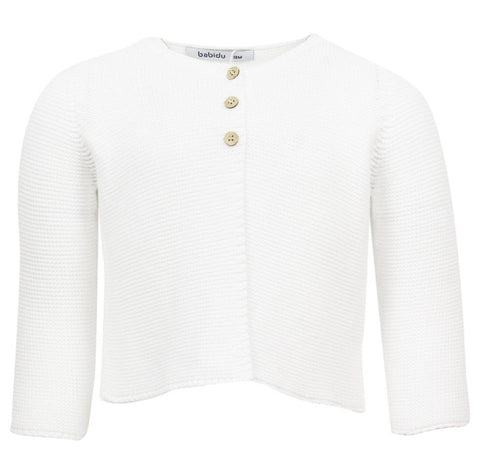 Babidu White Knitted Cardigan
