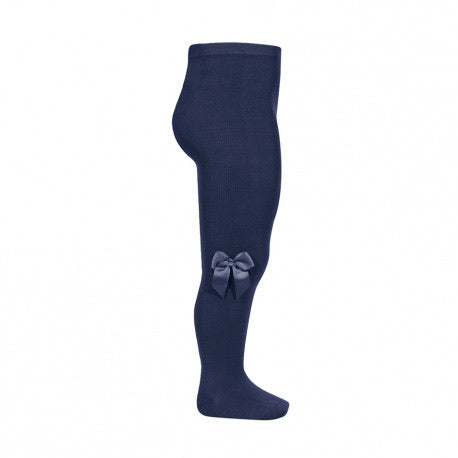Condor Cotton Tights with side bow - Navy