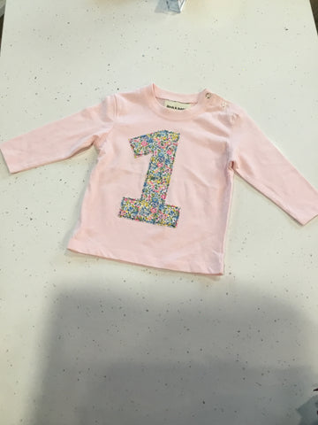 Birch & Bobbin Birthday Top long sleeved- Pink
