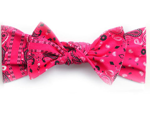 Little Bow Pip - Cerise Pink Bowdana