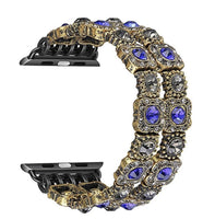 The Queens Bling watch band - (Blue and Gold)